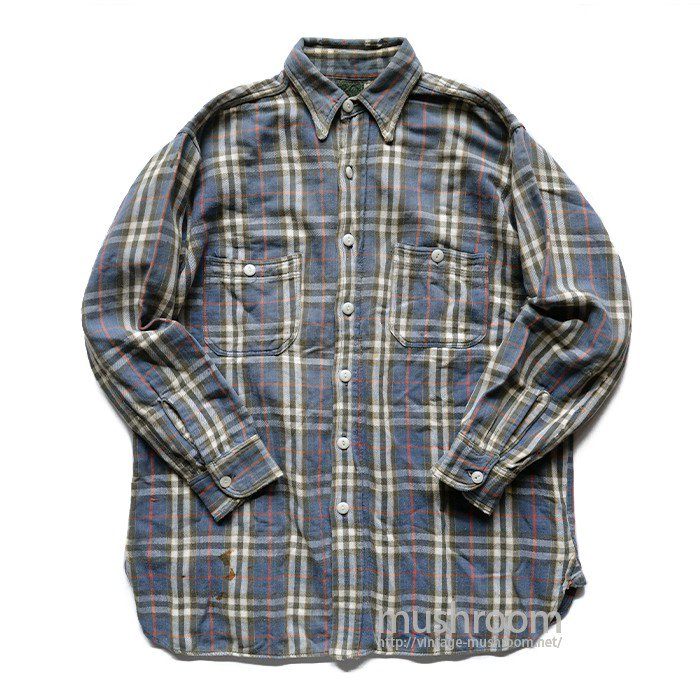 JCPENNEY PLAID FLANNEL OUTDOOR SHIRT