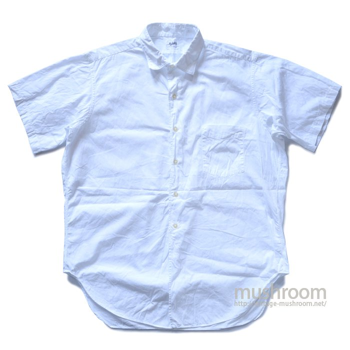 MANHATTAN WHITE COTTON S/S SHIRT( 16/MINT )