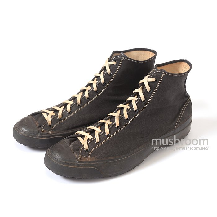 WW2 HOOD RUBBER CO BLACK CANVAS SHOES
