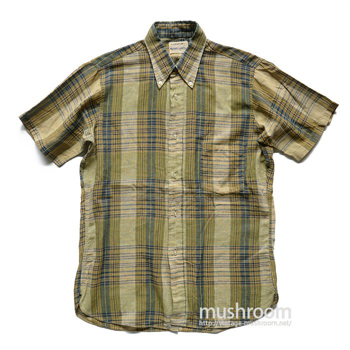 ARROW PLAID COTTON SHORT SLEEVE BD SHIRT