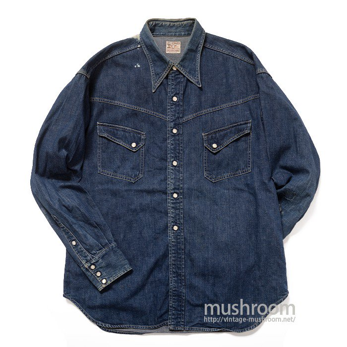 LEVI'S SHORTHORN DENIM WESTERN SHIRT