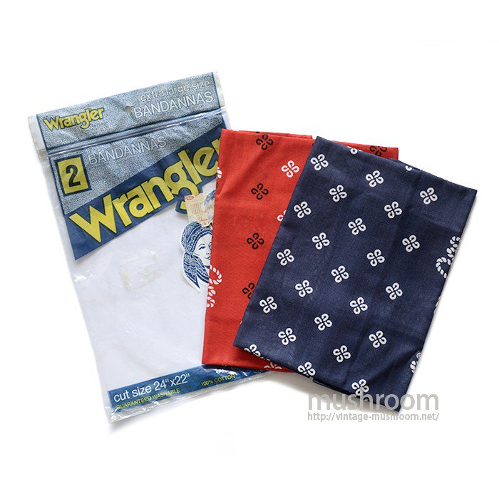 WRANGLER 2SET ADVERTISING BANDANAS( DEADSTOCK )