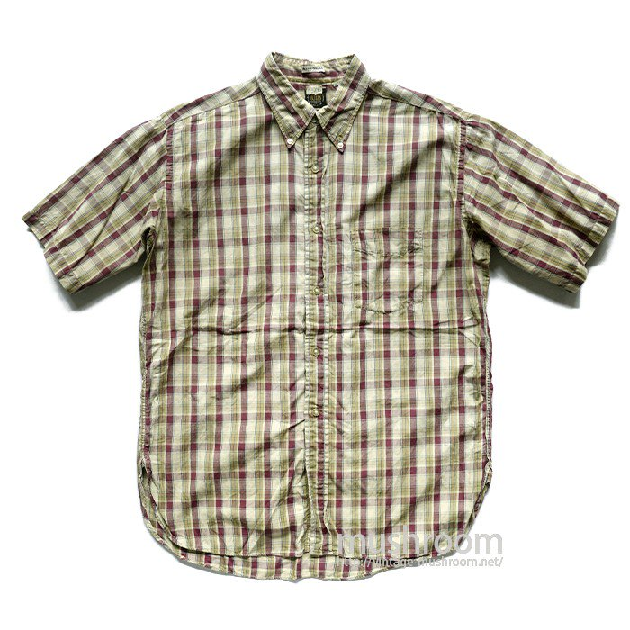 VAUGHN PLAID COTTON SHORT SLEEVE BD SHIRT