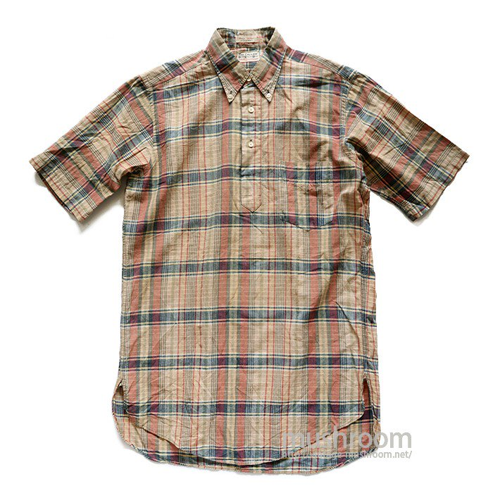 GANT INDIA MADRAS PLAID COTTON SHORT SLEEVE BD SHIRT