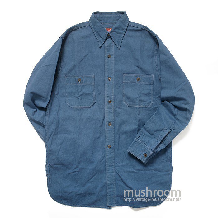 HIT EM HARD COTTON WORK SHIRT( 14 1/2/MINT )