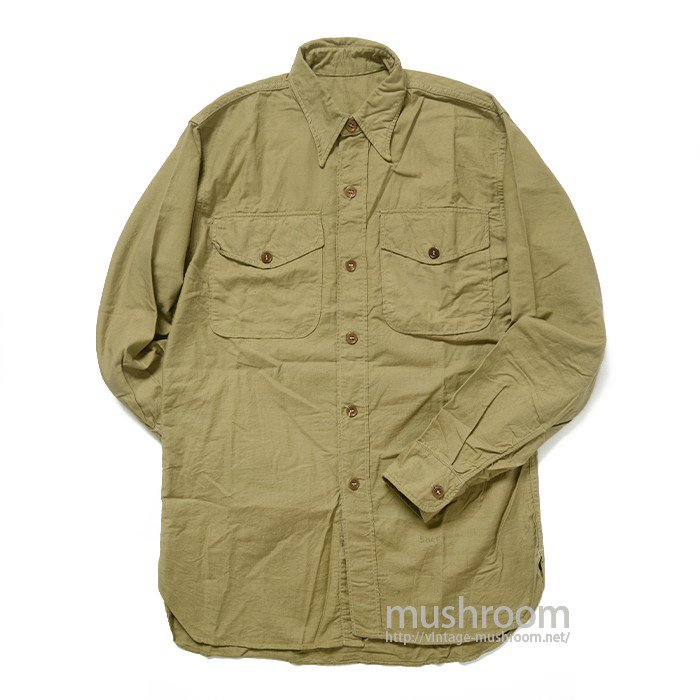 OLD COTTON MILITARY SHIRT( MINT )