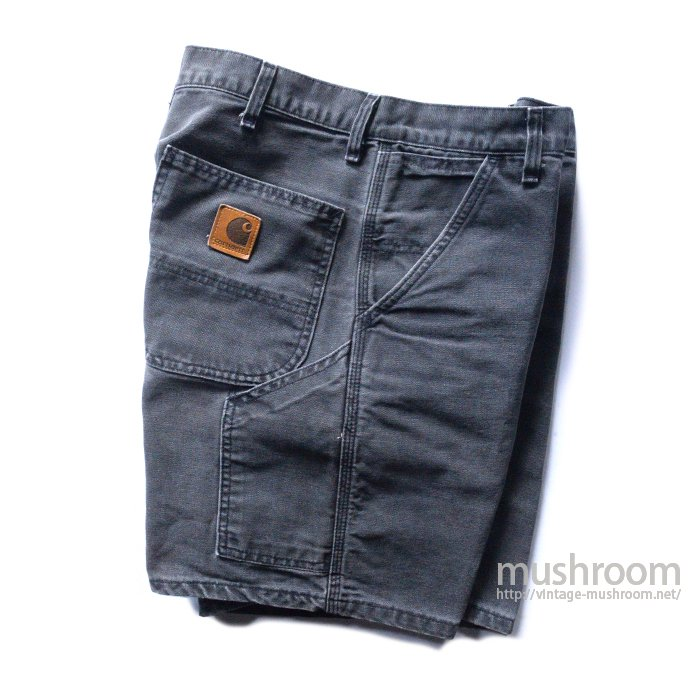 CARHARTT BLACK CANVAS WORK SHORTS