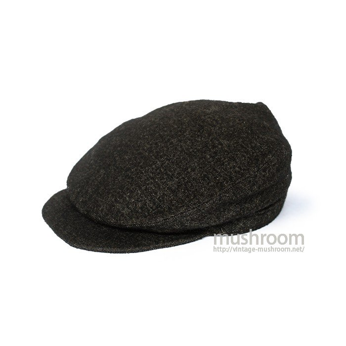 1920's BLACK WOOL FLAT TOP HAT