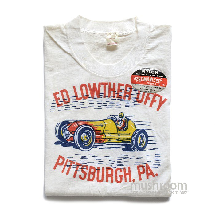 OLD HOT ROD PRINTED T-SHIRT( M/DEADSTOCK )