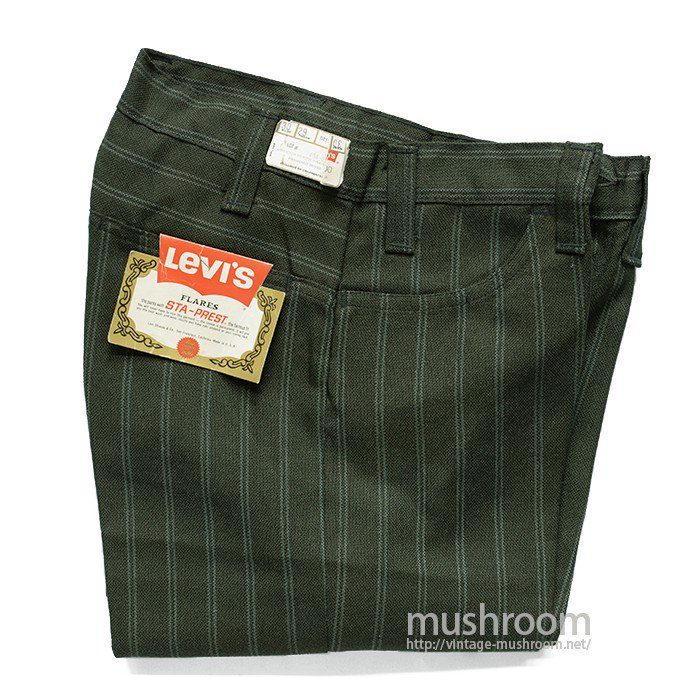LEVI'S BIGE STA-PREST FLARE PANTS( W30/L29/DEADSTOCK )