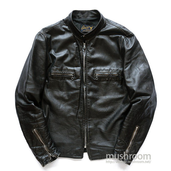 BUCO-J100 CAFE LACER LEATHER JACKET