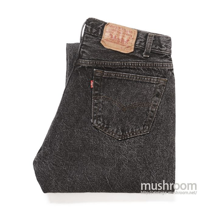 LEVI'S 501-0601 BLACK ACID WASHED JEANS