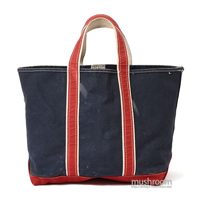 L.L.BEAN DELUXE TOTE BAG( NAVY/RED/LARGE )