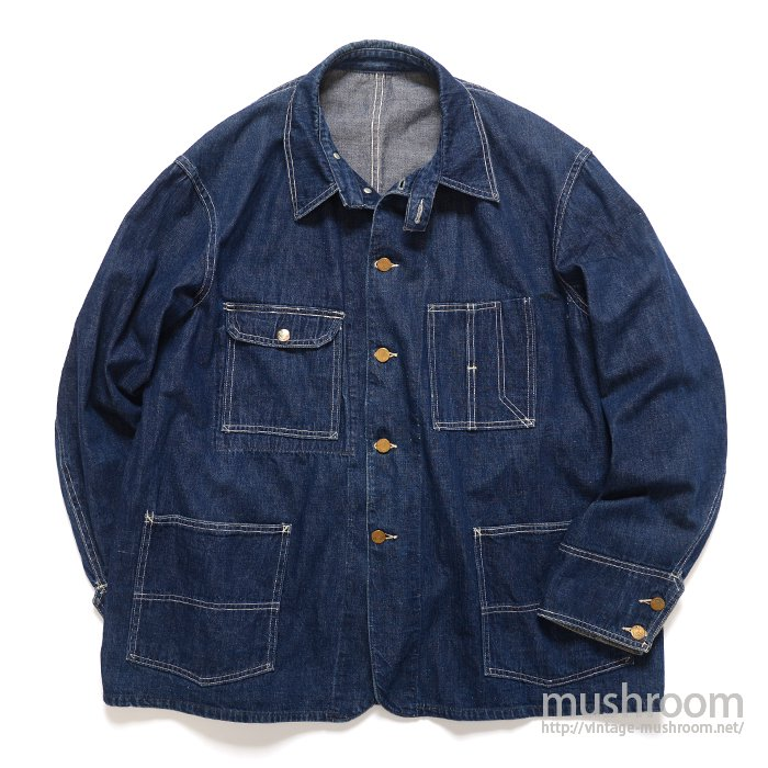 BIG B DENIM COVERALL WITH CHINSTRAP