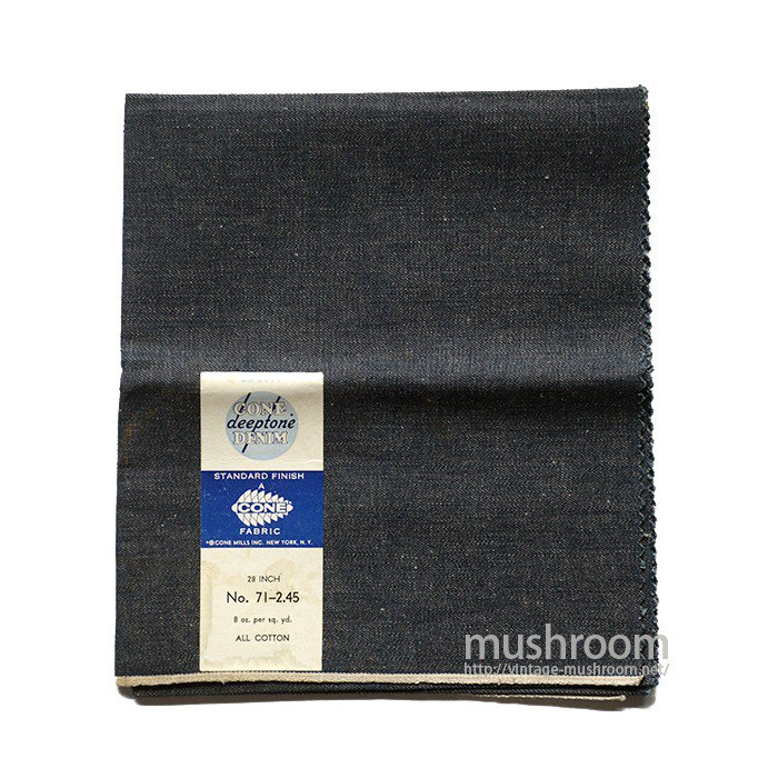 CONE MILLS SALESMAN SAMPLE DENIM FABRIC( DEADSTOCK )