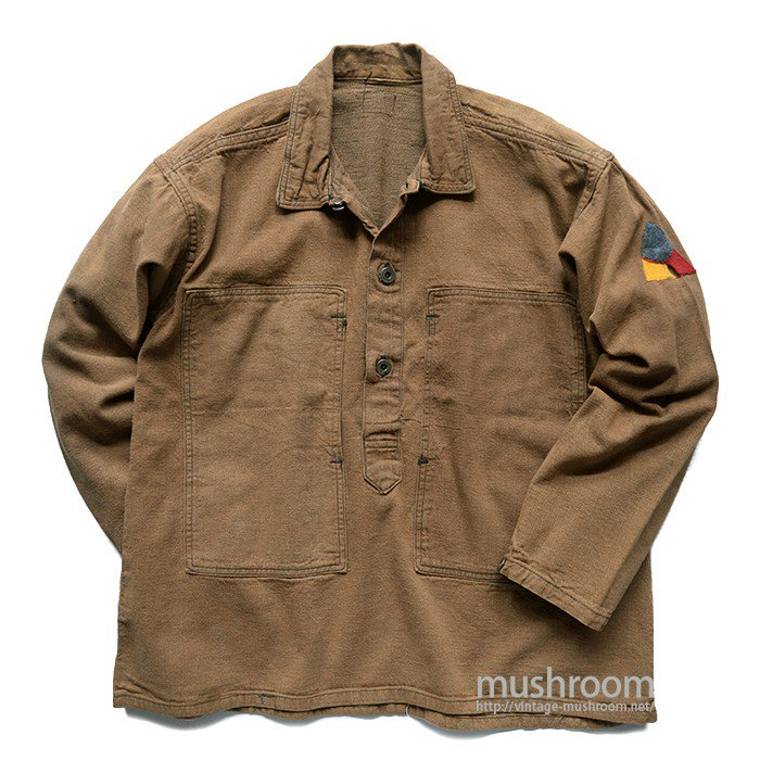 WW1 U.S.ARMY BROWN DENIM JUMPER WITH STENCIL