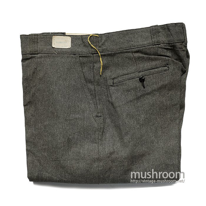 OLD BLACK CHAMBRAY WORK TROUSER( W36/L30/DEADSTOCK )