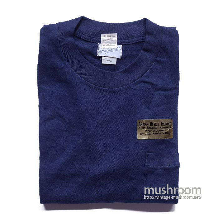 AMBASSADOR PLAIN POCKET T-SHIRT( L/DEADSTOCK )