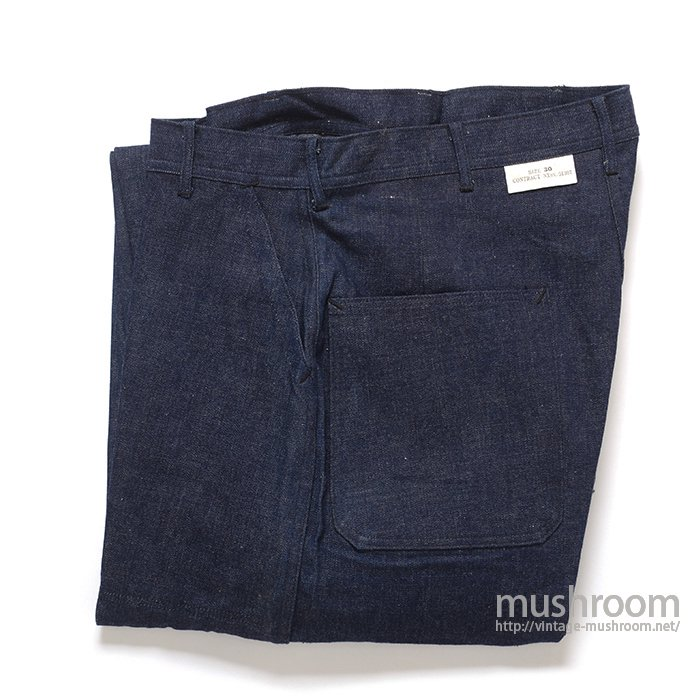 WW2 USN DUNGAREE DENIM TROUSER( 30/DEADSTOCK )