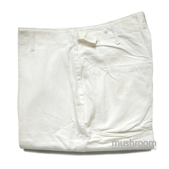 U.S.MILITARY FOOD HANDLER'S COTTON TROUSER( 34-M/DEADSTOCK/2 )