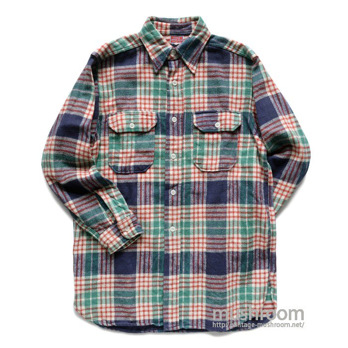 SUPER IRON ACE PLAID FLANNEL SHIRT( MINT )