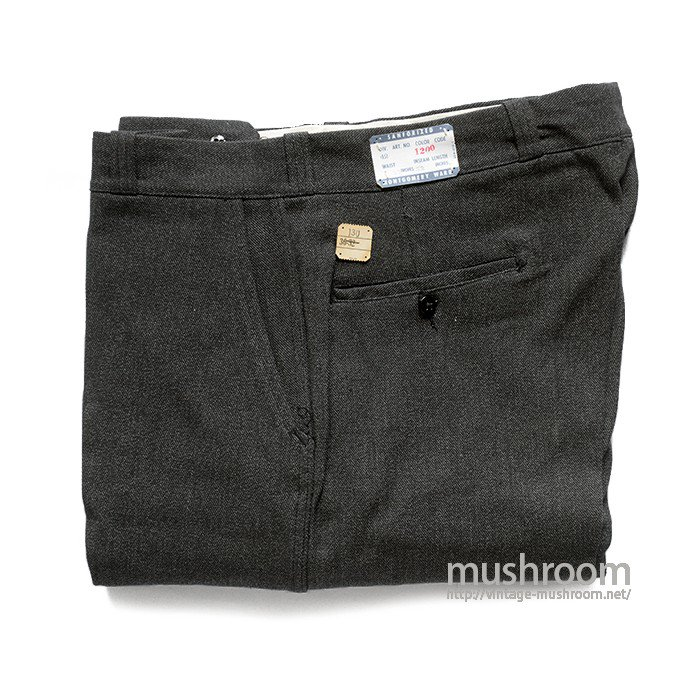 MW BLACK COVERT WORK TROUSER( 36/32/DEADSTOCK )