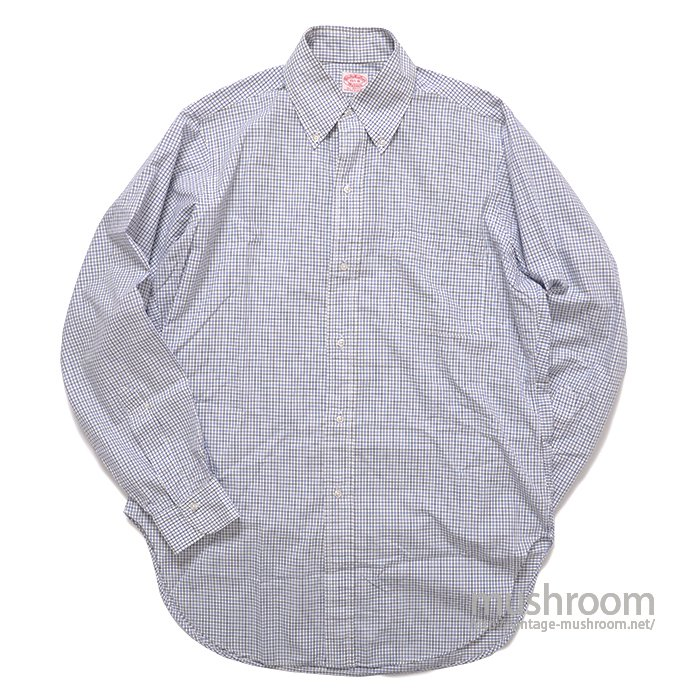 BROOKS BROS PLAID COTTON BD SHIRT( 15 1/2R/MINT )