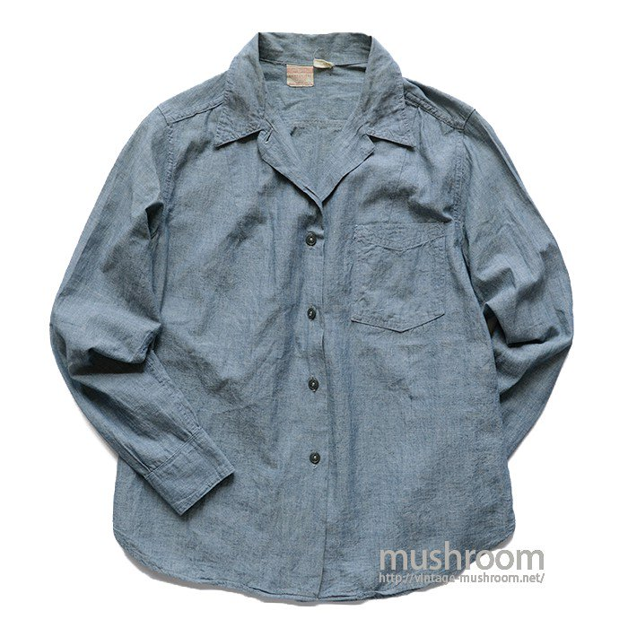 LADIES'HERCULES CHAMBRAY WORK SHIRT( MINT )