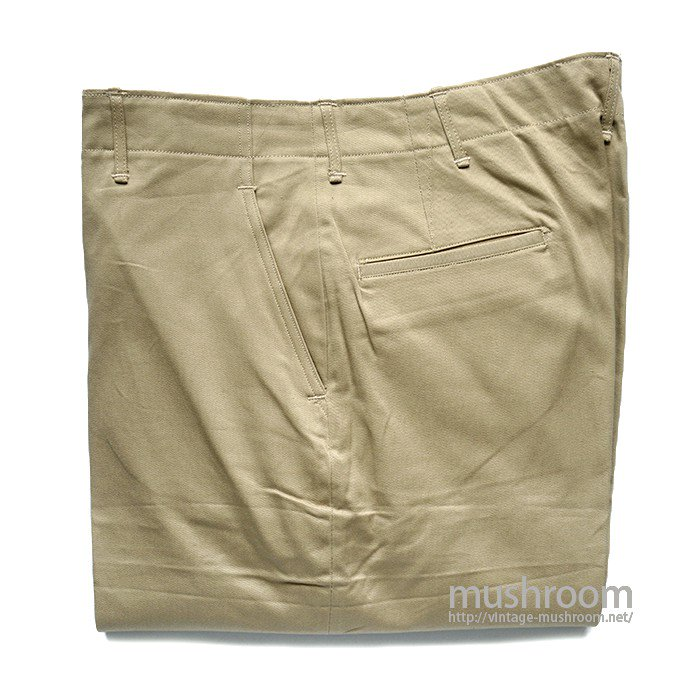 WW2 U.S.ARMY 45-KHAKI CHINO TROUSERS( W34L35/DEADSTOCK )