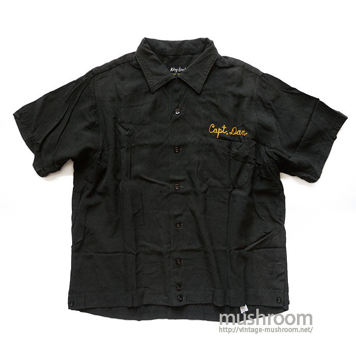 KING LOUIE BLACK BOWLING SHIRT