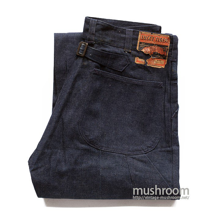 LUCKY TIGER DENIM WORK TROUSER( 34/34/DEADSTOCK )