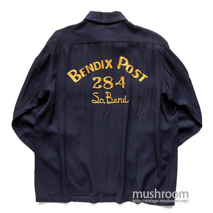 SKIPPER NAVY L/S BOWLING SHIRT