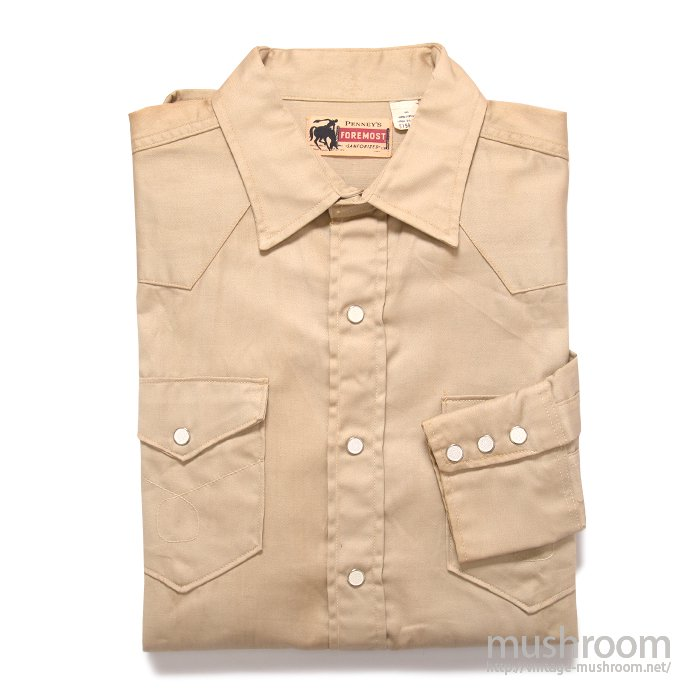 PENNEY'S FOREMOST COTTON WESTERN SHIRT( 15 1/2/DEADSTOCK )
