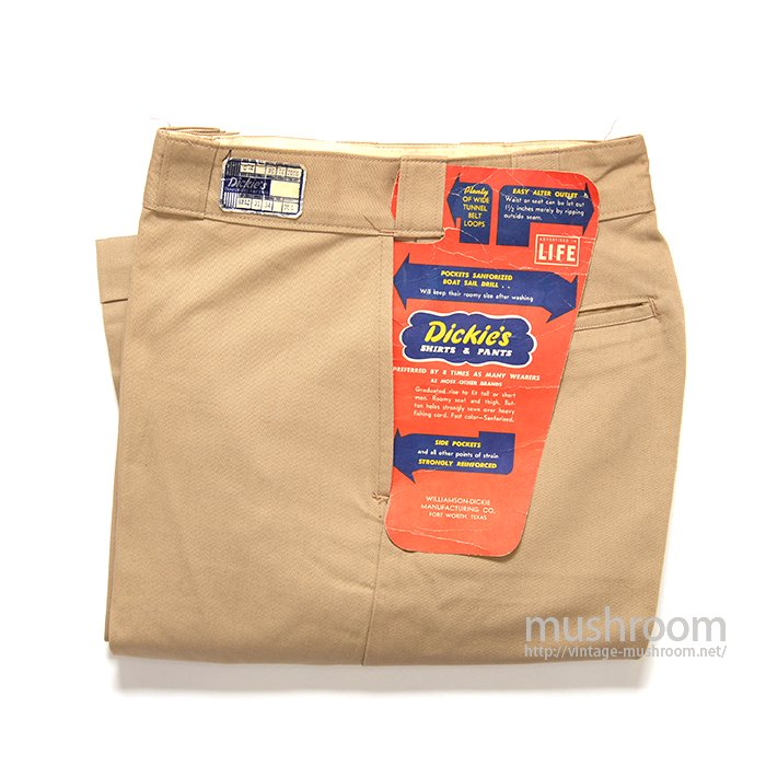 DICKIES COTTON WORK PANTS( W31/L34/DEADSTOCK )