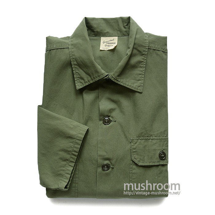 OLD FATIGUE POPLIN COTTON SHIRT( L/MINT )