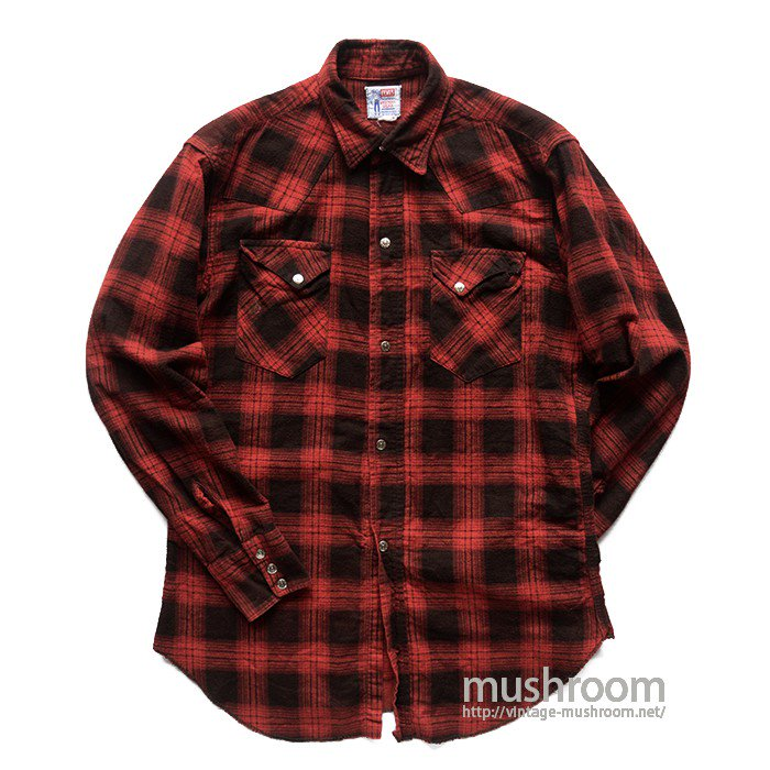 LEVI'S SADLEMAN PLAID COTTON WESTERN SHIRT