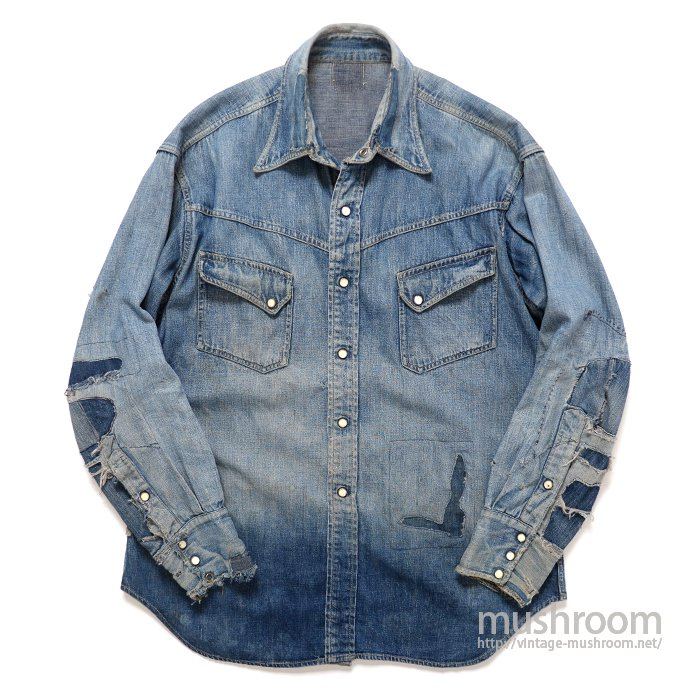 LEVI'S SHORTHORN DENIM WESTER SHIRT