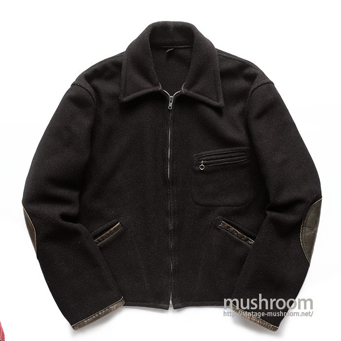 KING-O-WEAR BLACK WOOL SPORTS JACKET