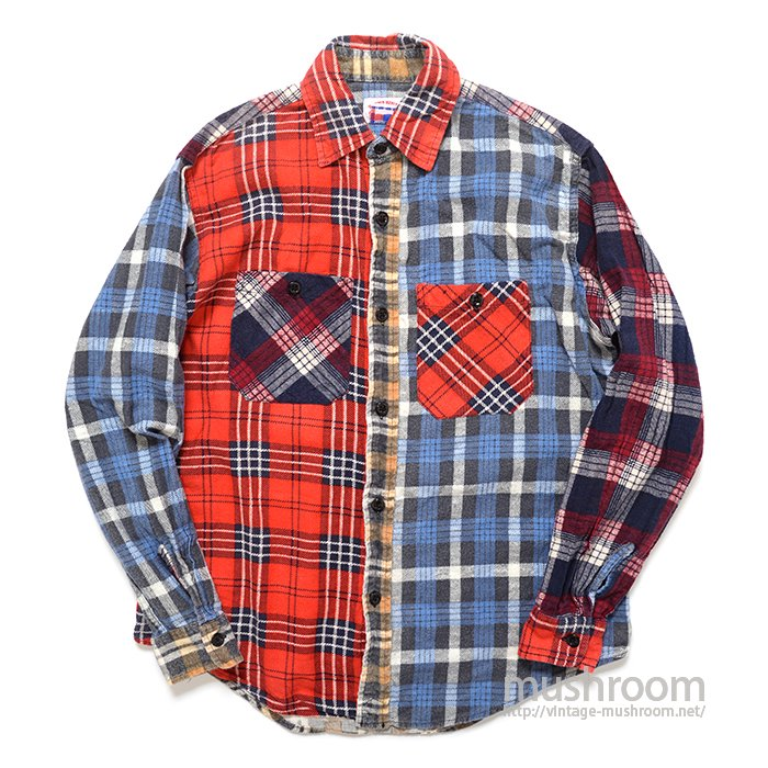 ROUND HOUSE PATCHWORK FLANNEL SHIRT
