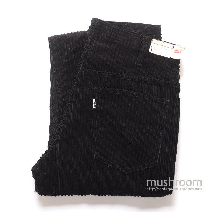 LEVI'S 518 BIGE BLACK CORDUROY PANTS( W34/L32/DEADSTOCK )