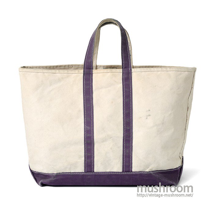 L.L.BEAN CANVAS TOTE BAG( NATURAL AND PURPLE)