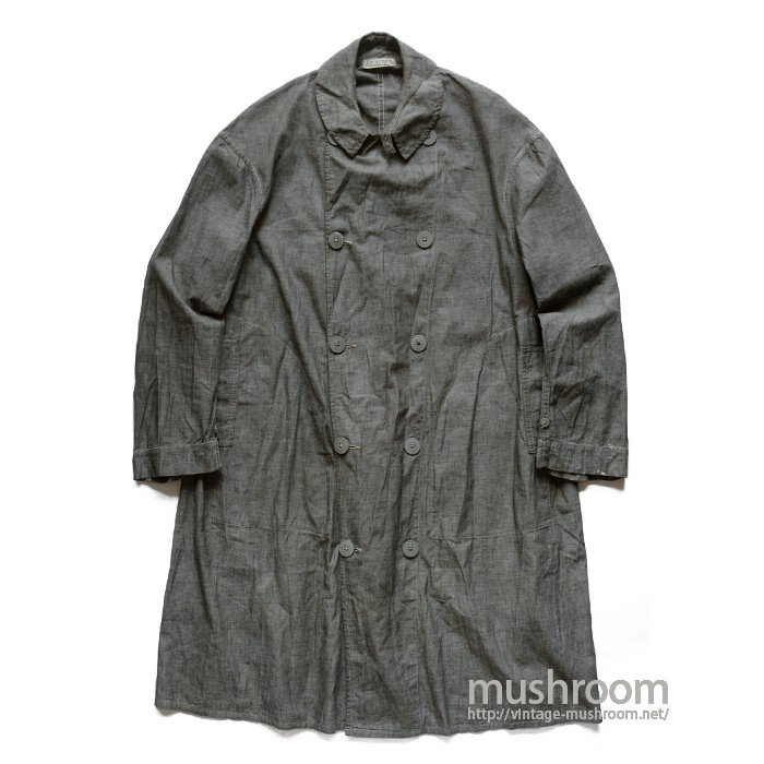 CARTER'S GRAY CHAMBRAY WORK COAT WITH CHINSTRAP( MINT )