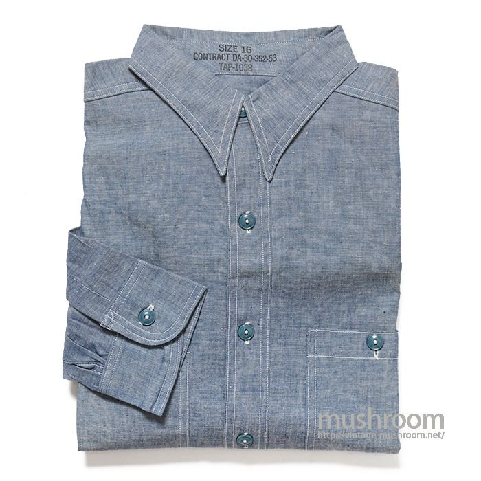 U.S.NAVY CHAMBRAY SHIRT( 16/DEADSTOCK )