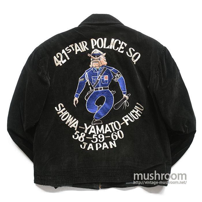 421ST AIR POLICE CORDUROY SOUVENIR JACKET( MINT )