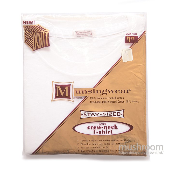 MUNSINGWEAR WHITE COTTON T-SHIRT ( DEADSTOCK )