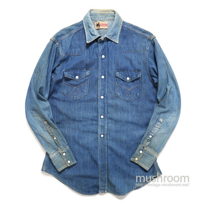 PENNEY'S FOREMOST DENIM WESTERN SHIRT