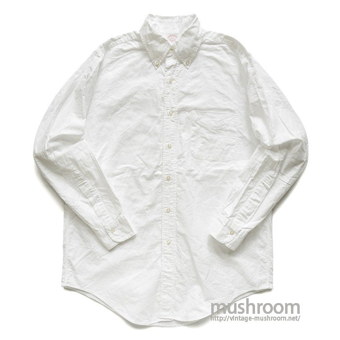 BROOKS BROS WHITE OXFORD BD SHIRT( 15-2/MINT )