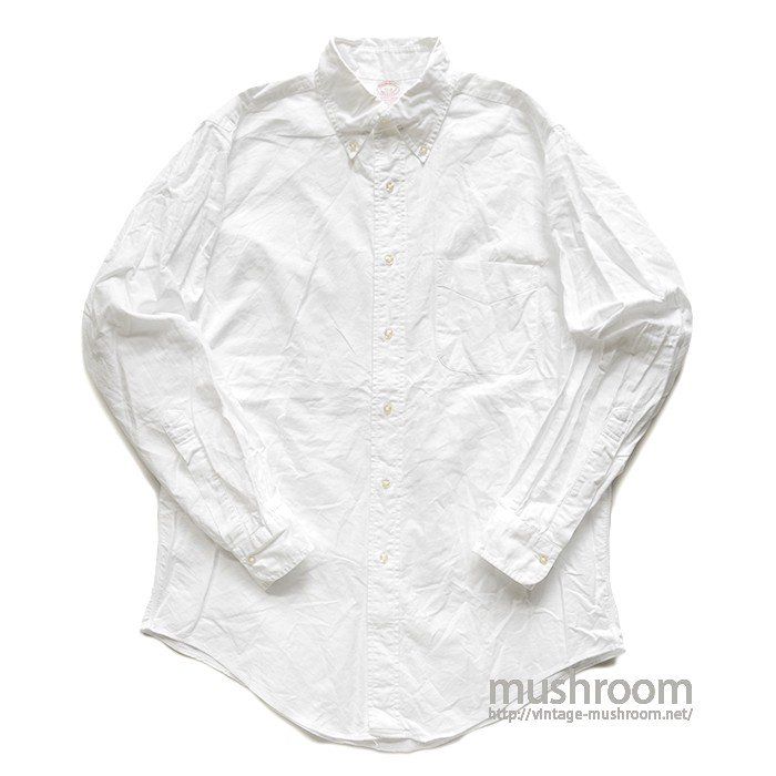 BROOKS BROS WHITE OXFORD BD SHIRT( 15-3/MINT )