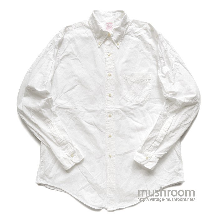 BROOKS BROS WHITE OXFORD BD SHIRT( 16 1/2-5/MINT )