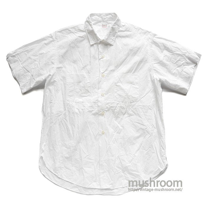 PENNEY'S WHITE COTTON S/S SHIRT( 15H-32/MINT )